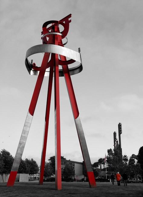 Di Suvero sculpture on the Embarcadero