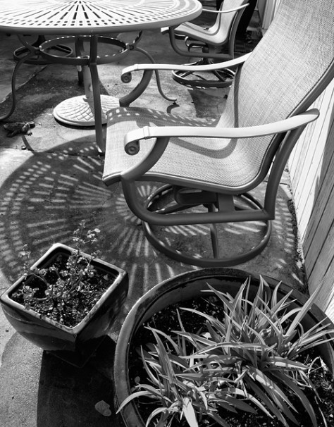Black and white view from cyberia's door