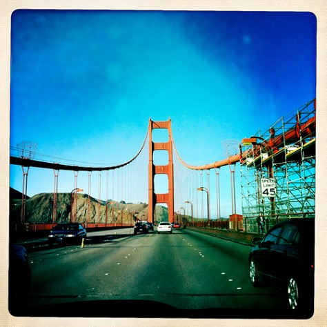 Crossing the Golden Gate Bridge