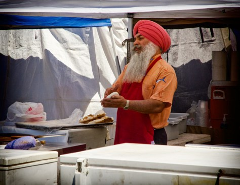 Man making naan