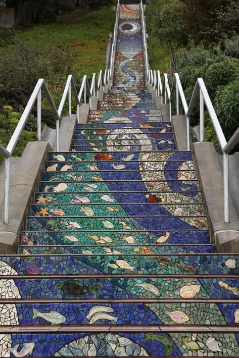 Art tiles at 16th and Moraga