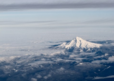 Mt Hood from 30000 feet