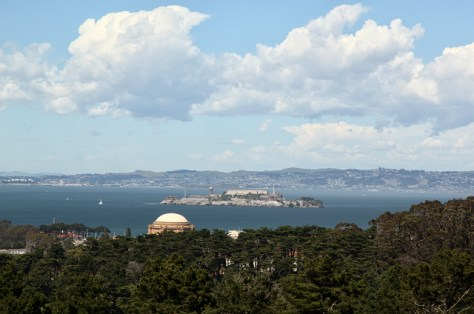 Alcatraz from the upper Presidio