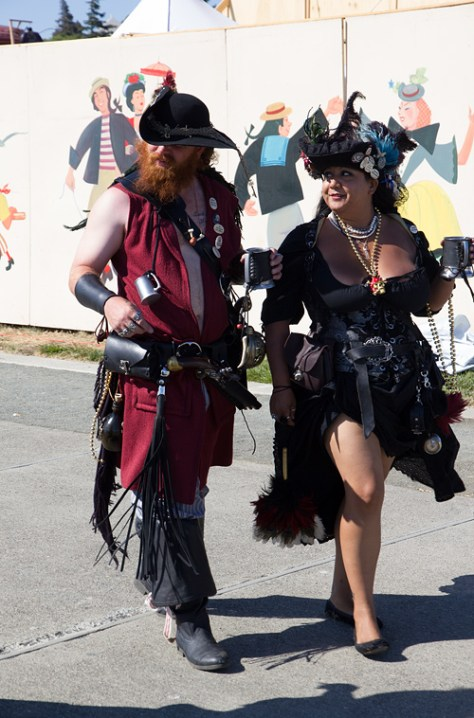 Pirate couple in full garb