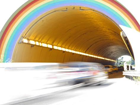 Rainbow tunnel cool
