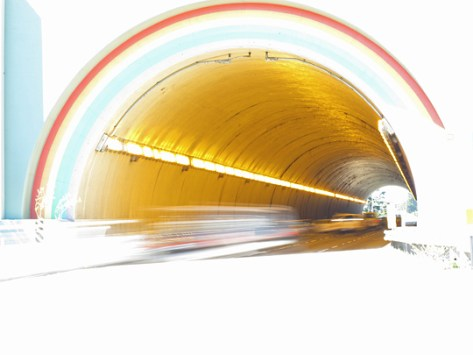 Rainbow tunnel hot