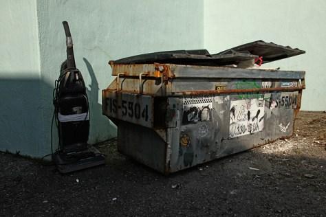 Vacuum and trash bin