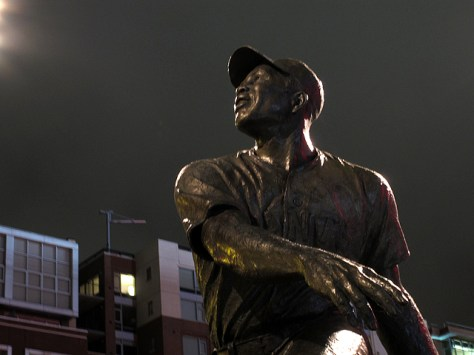 Willy Mays statue at AT&T Park
