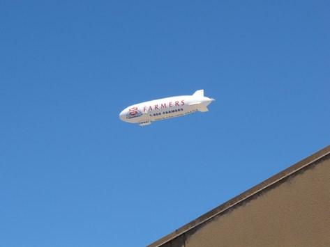 Zeppelin in flight
