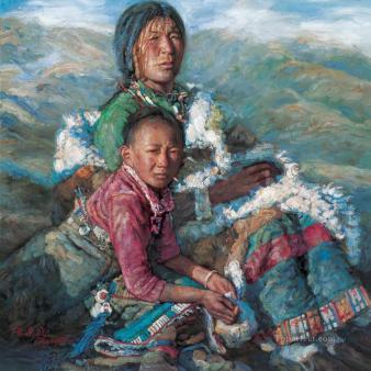 Chen-Yifei-%E9%99%B3%E9%80%B8%E9%A3%9B-Mother-and-Child
