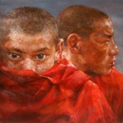 F.J. Feng Two Tibetan monks