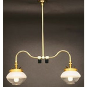 Falk 2707 Double Ceiling Indoor Gas Light Falk Double Ceiling Gas Light 2707