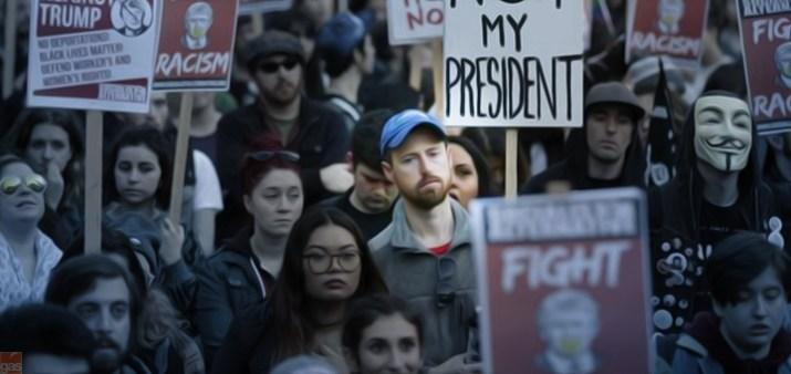 manifestazione anti trump