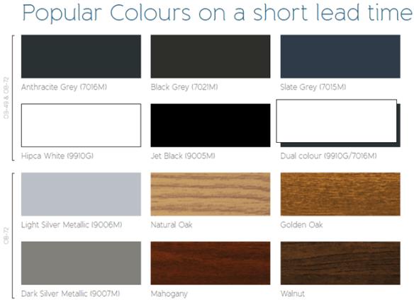 Bi-Fold Popular Colours