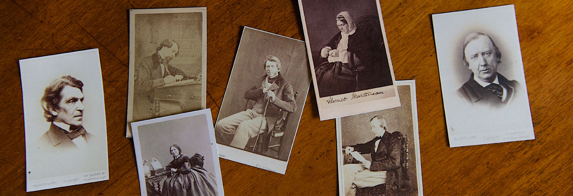 Calling cards from Elizabeth Gaskell's House