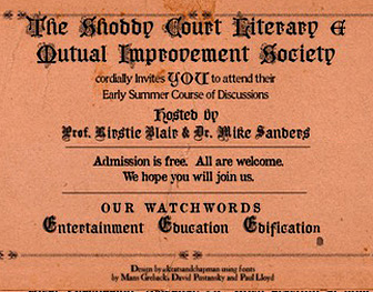 The Shoddy Court Literary & Mutual Improvement Society