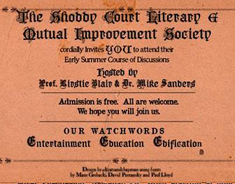 The Shoddy Court Literary & Mutual Improvement Society