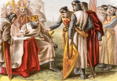 King John being forced to sign Magna Carta