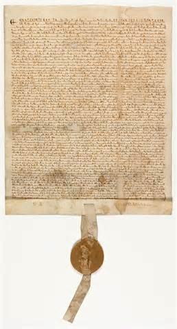 Photograph of an original Magna Carta