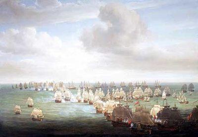 The Beginning of the Battle of Trafalgar