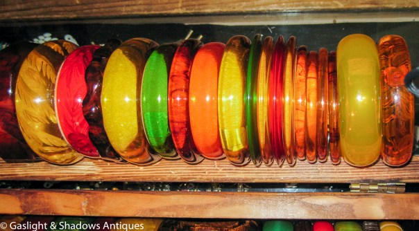 Bakelite apple juice - cherry juice - prystal bracelets just arrived