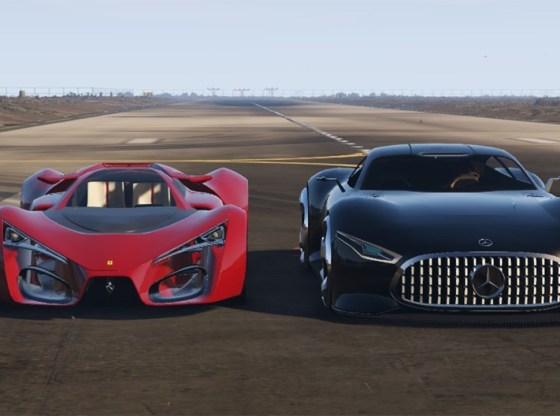 z2 - Mercedes-Benz AMG Vision GT acelera com Ferrari F80 Concept