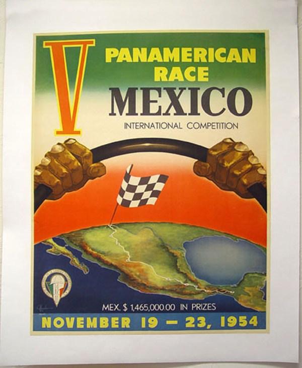 """poster 1 - A história da """"La Carrera Panamericana"""""""