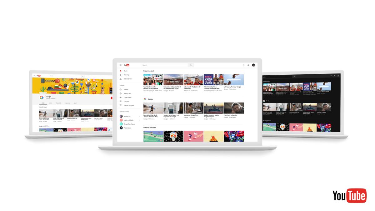 Youtube版面更新:更簡潔的無邊框設計、劇院黑模式(深色模式)、個人頻道佈局與App介面趨向一致