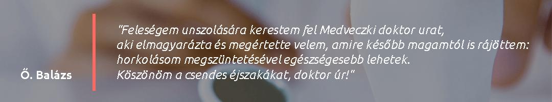 Gáspár Medical Dr. Medveczki Zoltán Ph.D. páciens vélemény