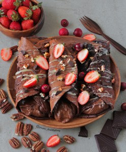 Protein packed chocolate crepes