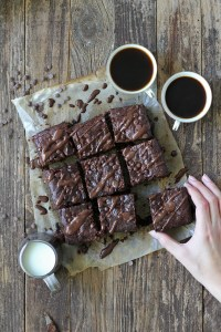 Super moist tahini brownies