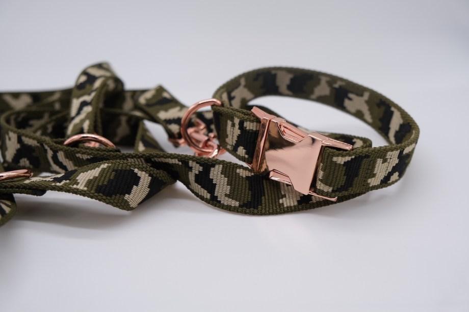 Halsband & Leine – Camouflage