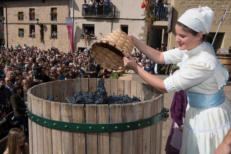 Fiesta de la Vendimia de Rioja Alavesa del 2017 en Yécora | Foto: Irekia