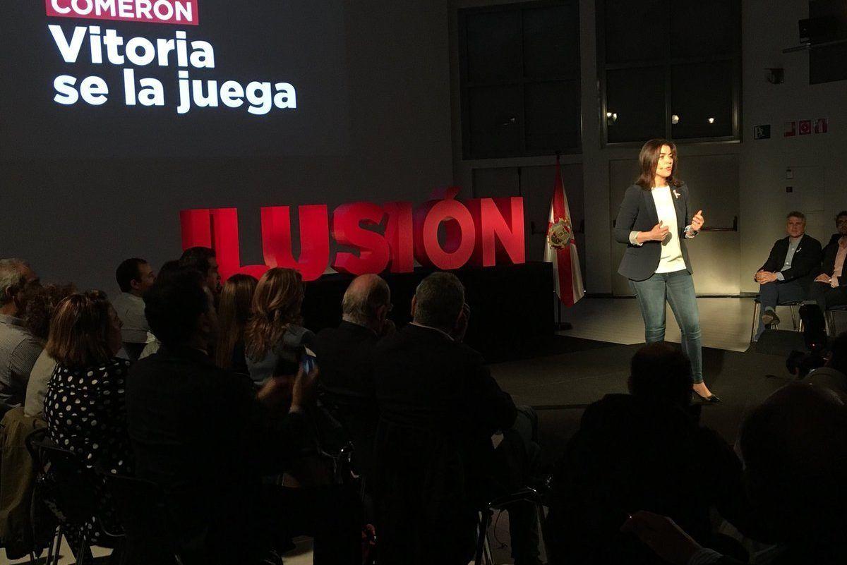 Leticia Comerón en su acto de presentación | Foto: PP Vitoria