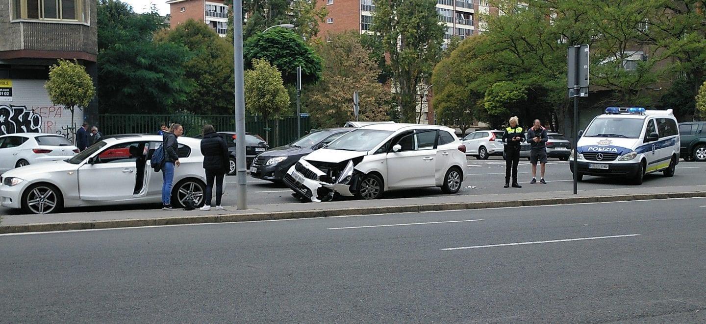 Accidente ocurrido el lunes en Portal de Legutiano | Foto: GasteizBerri.com
