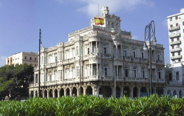 Embajada de España en Cuba en la calle Agramonte (antigua Zulueta), La Habana Vieja | Foto: Ministerio de Exteriores