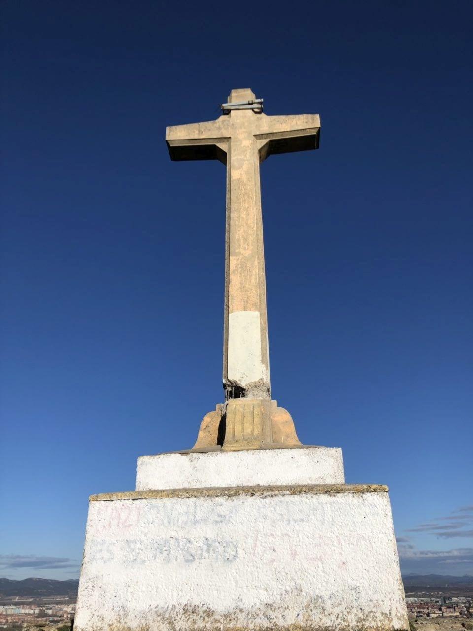 Sabotaje Cruz de Olarizu | Foto: Ayuntamiento de Vitoria-Gasteiz