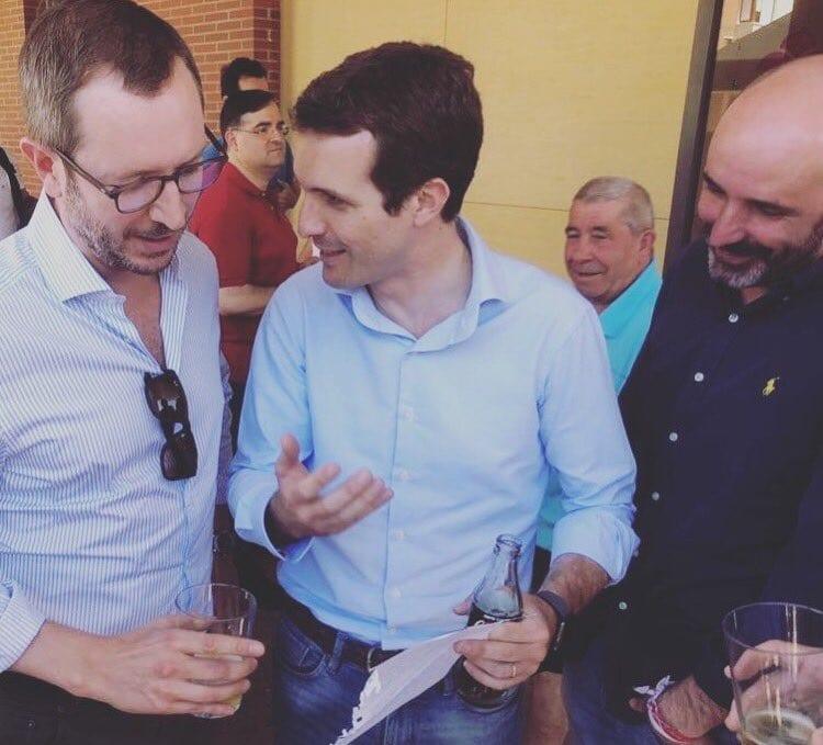 Javier Maroto, Pablo Casado y Rafael Laza | Foto: Twitter