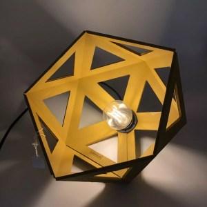 "C5BE8D1B 6552 4140 AC30 4E4020B857A4 rotated - Leewalia - Grande lampe origami ""jaune moutarde"""
