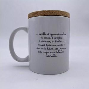 "IMG 2036 - Marcel et Lily - mug "" Authentique Bavard"""