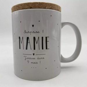 "IMG 2062 - Marcel et Lily - mug ""futur mamie"""