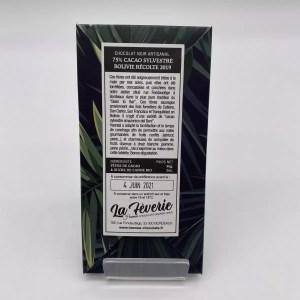 "IMG 2146 - Hasnaâ chocolat La Fèverie ""Cacao Sylvestre 75%"""