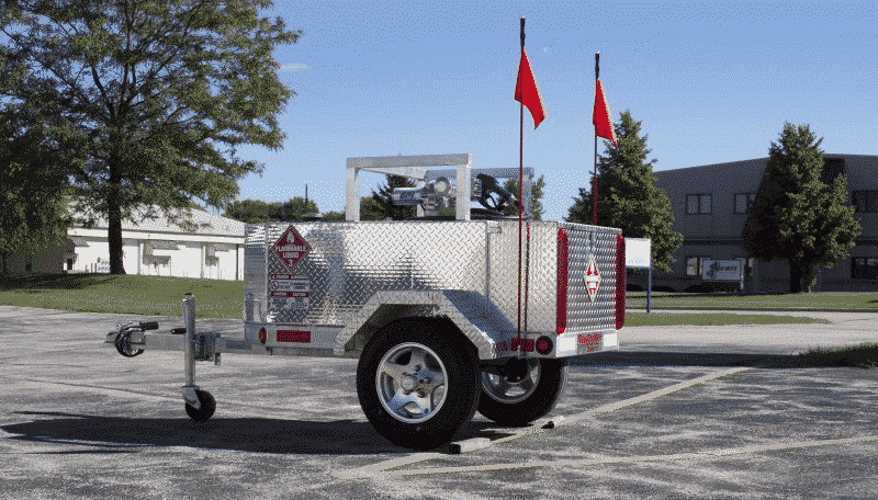 Gas Trailer With LED Marker Flags