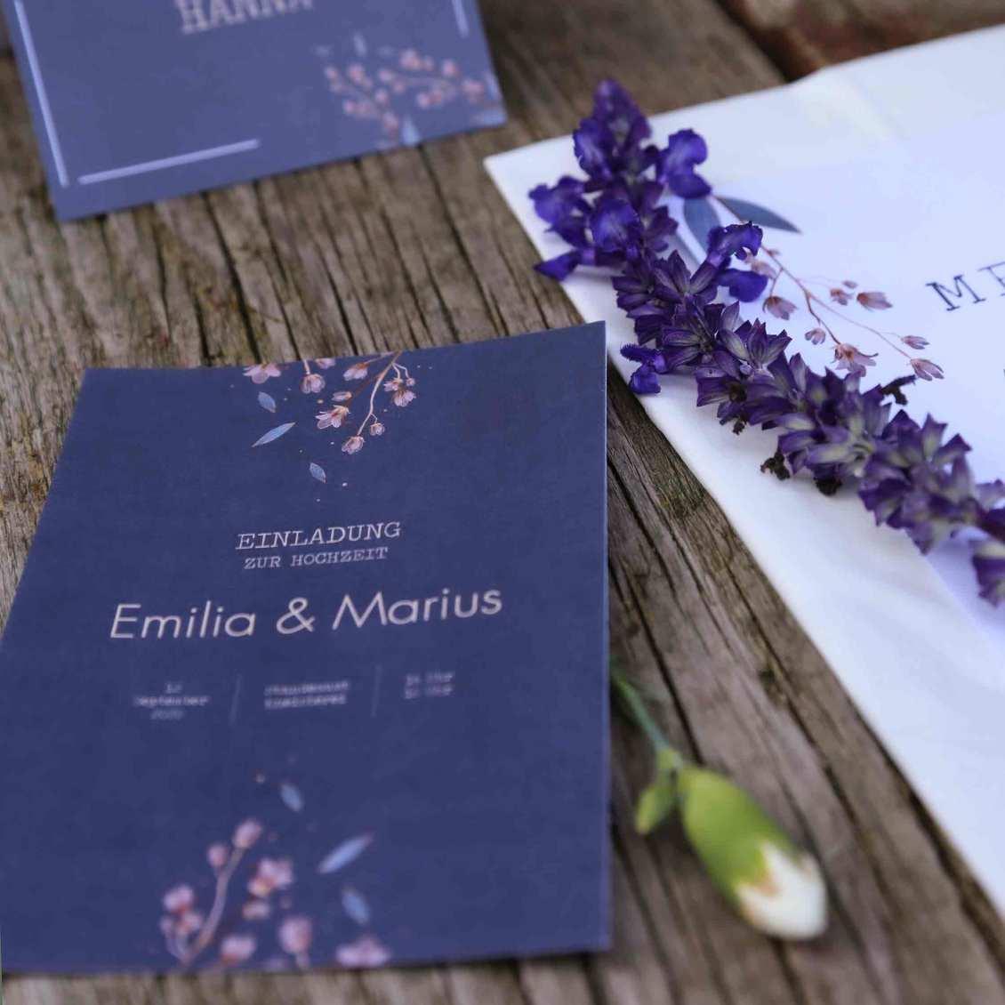 Hochzeitseinladungen von der Papeteriewerkstatt