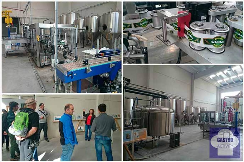 Interior de la fábrica Cervezas Gredos en Hoyocasero Avila