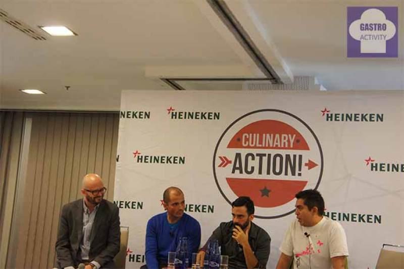 Moderador, Javier Goya, Estanis Carenzo y Roberto Ruiz