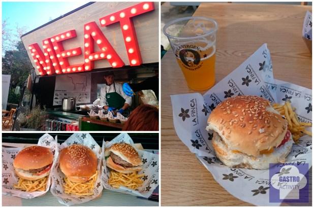 MadrEAT Hamburguesa de Carne de La Finca y cerveza de Cervezas La Virgen