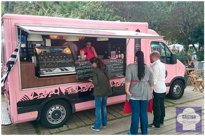 Foodtruck de Trisk'An Paris en la feria de comida callejera de Madrid. Crepes y Galettes