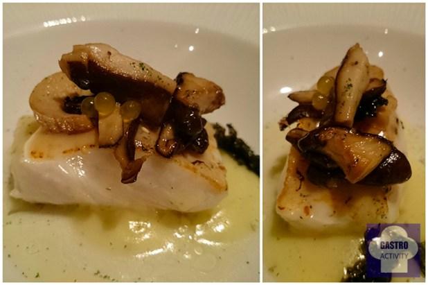 Merluza en emulsion de citronella Restaurante Arbidel 1 estrella Michelin de Jaime Uz