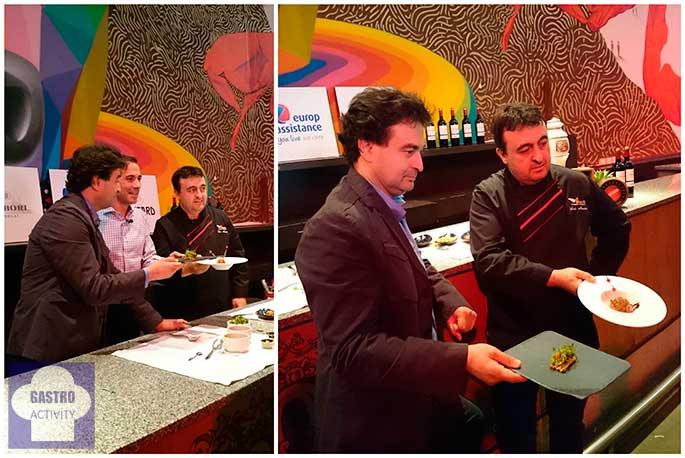 Presentación de las tapas elaboradas por Pepe Rodriguez y Luis Martin en Las Ventas